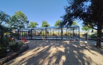 Cubierta alta de piscina Confort instalada en Cuenca